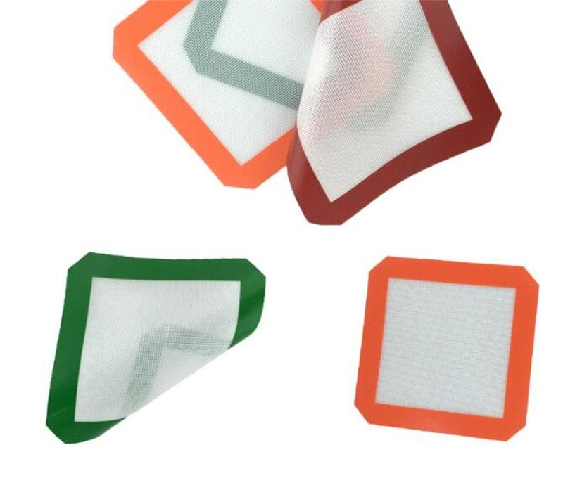 20cm x 20cm L Colorful Silicone Mat Non-Stick Silicone Wax Oil Dab Dinng Tale Baking Mats for Glass Bong Water Pipes Smoking 291 V2