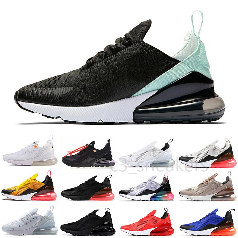 Nike Air Max 270 2021 Designer Deportes Casual Zapatos Triple Negro Todo Blanco Mujeres Hombres Top Calidad Summer Gradient Blue Punch 27s Trainers Sneakers 36-45 CZ01