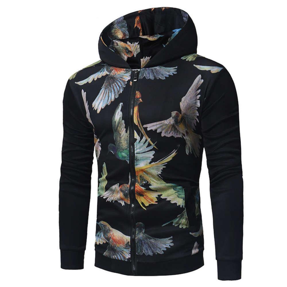 Новая 3D абстрактная печать мульти молнии с капюшоном мужской свитер пальто J-G4-CE09