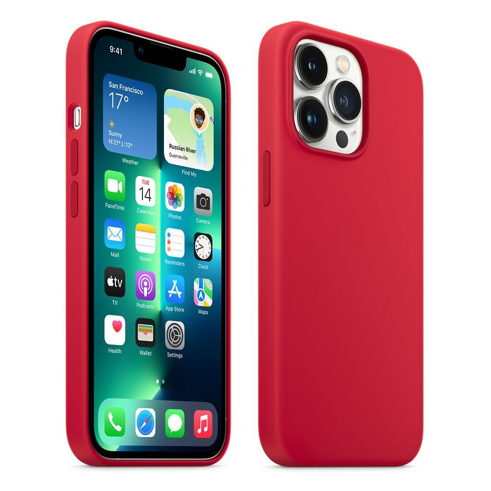 Custodia originale in silicone Magsafe - Rosso per Apple iPhone 13/13 PRO / 13 Pro Max / 13 mini coperchio di protezione compatibile con accessori Magsafe