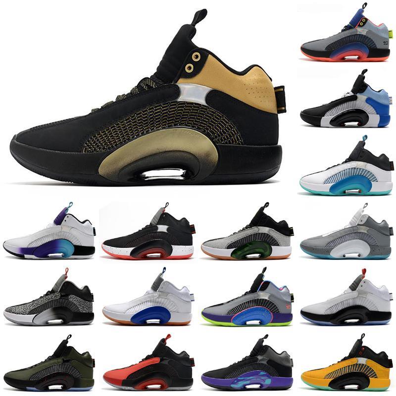 Jumpman XXXV 35 Ayakkabı Kardeşlik Merkezi Merkezi Savaşçı 35s Fragman Tasarım Sepya Taş Morpho Bayou Erkek Erkek Açık Ayakkabı