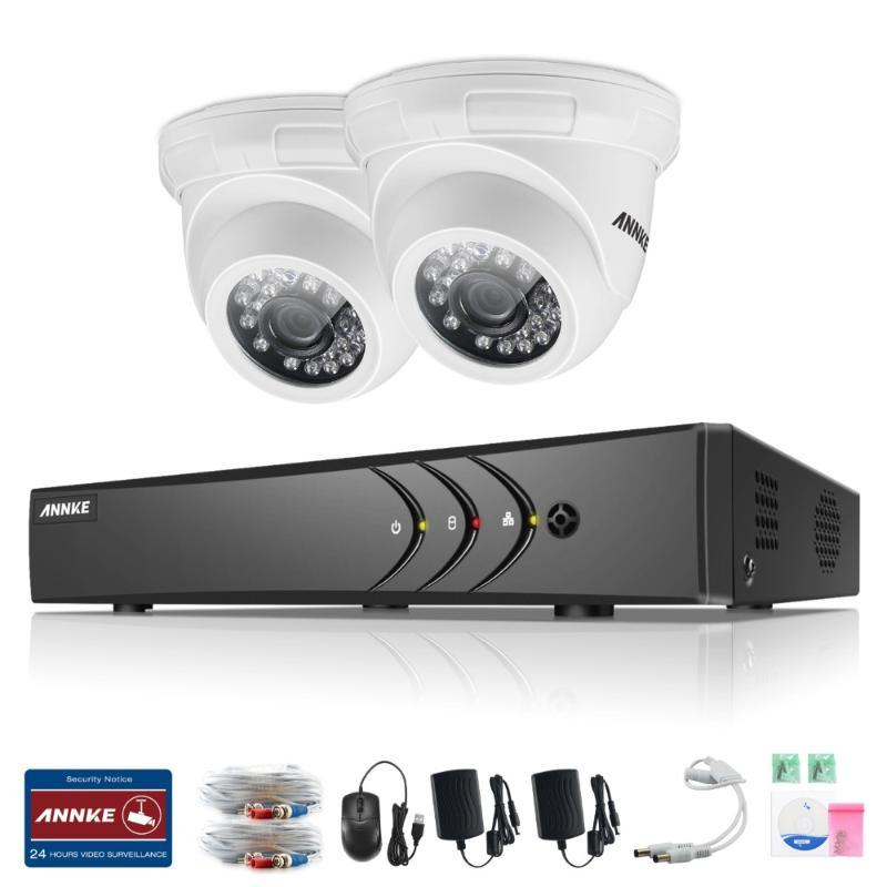 في 1 نظام CCTV 4 قناة AHD DVR مراقبة أنظمة الأمن الرؤية الليلية الرؤية الراقية IR-CUT TVI كاميرا DIY