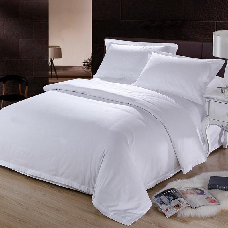 화이트 60 * 60s 순수 코튼 침대 시트 호텔