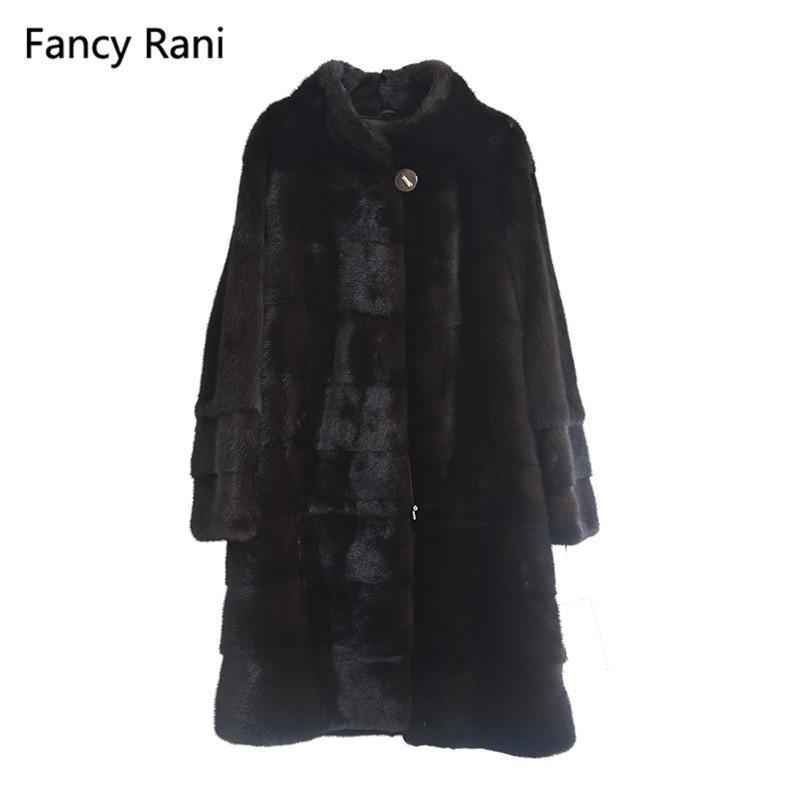 진짜 코트 만다린 칼라 두꺼운 따뜻한 정품 완전 펠트 자연 긴 재킷 여성 겨울 옷 맞춤형 여성 가짜 모피