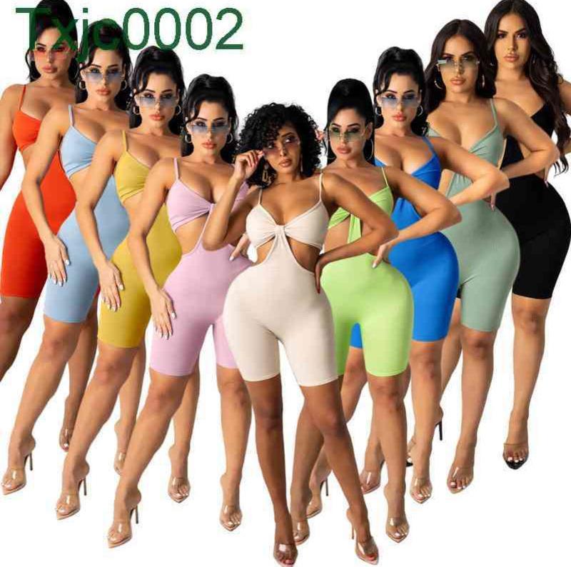 Frauen Designer Kleidung 2021 Hollow Perspektive Sexy Sommer Casual Trainingsanzug Mesh 2 Stück Kurzes Sets Damen Kurzarm Leggings Outfits