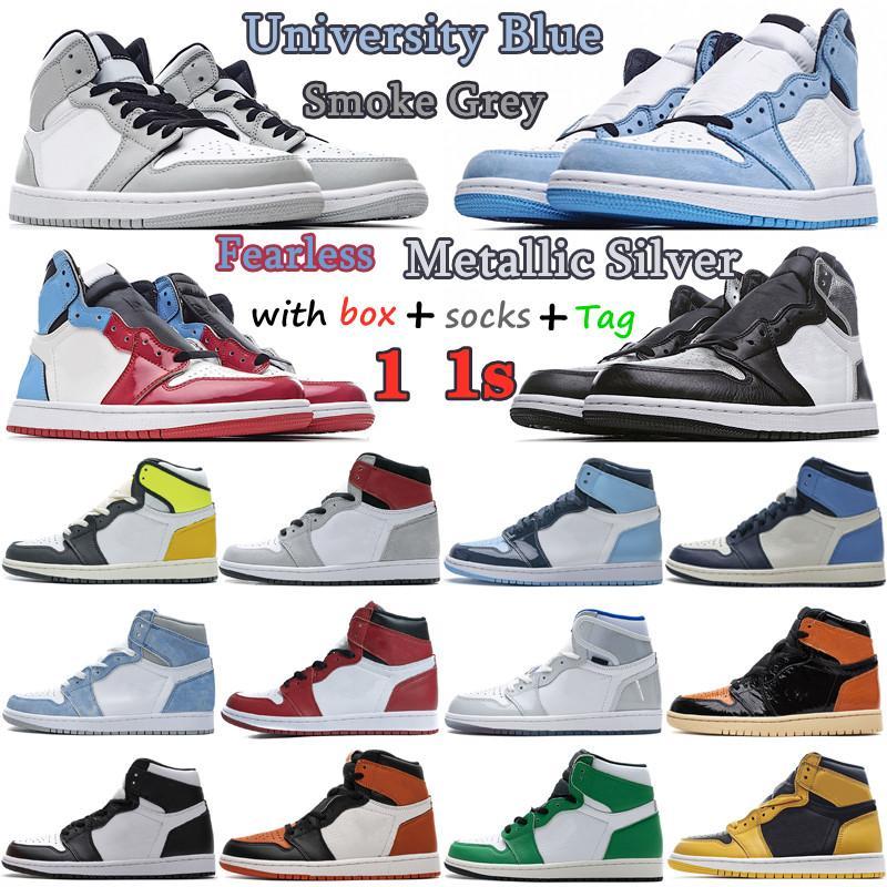 2021 Jumpman Chaussures de basketball Obsidian Unc Lucky Green 1S Mens Mens femmes Femmes Université Dark Moka Multicolore Candy Jorden 1 Twist Femmes Sneakers