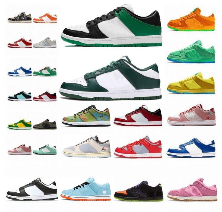 Sean Cliver Pigeon Low SB Dunk Chaussures de course Rose Côte Blanche Kentucky Green Green Glow hors Hommes Femmes Top Mode Dunks Baskets