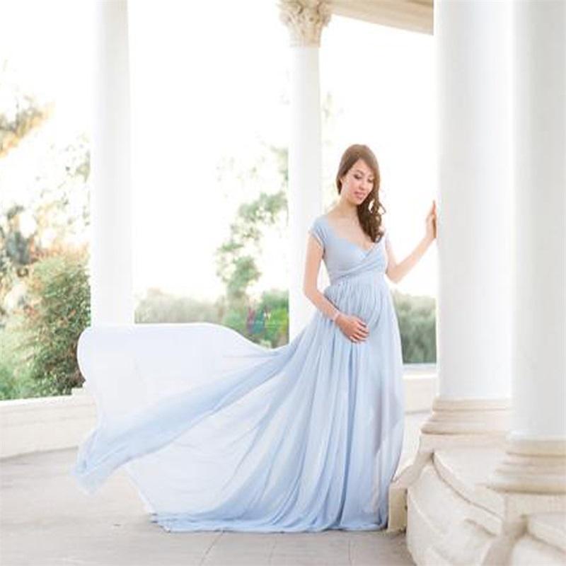 New White Lace Maternity Dress Photography Props Long Cotton Dress Pregnant Women Elegant Fancy Photo Shoot Studio Clothing 279 Z2