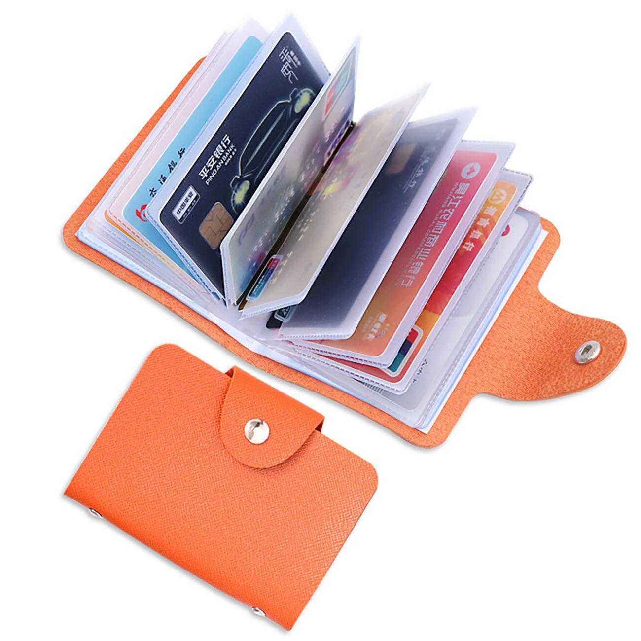 24 Slots Sacs de rangement multi-cartes Sacs de stockage à double face Antimagnetic Titulaire de la carte d'entreprise Assurances d'entreprise Publicité cadeau Porte-cartes de crédit