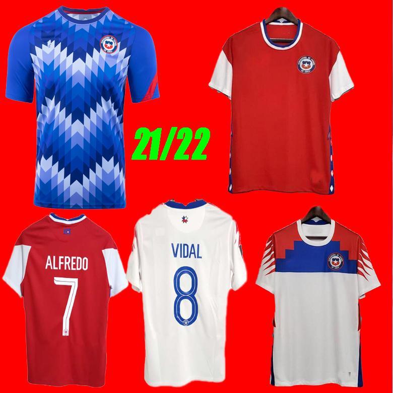 Acquista Cile 2021 Copa America America Soccer Jersey Casa Away Alexis Vidal Vargas Medel 20 21 Pinares Camiseta De Fútbol Training Camicie Da Calcio ...
