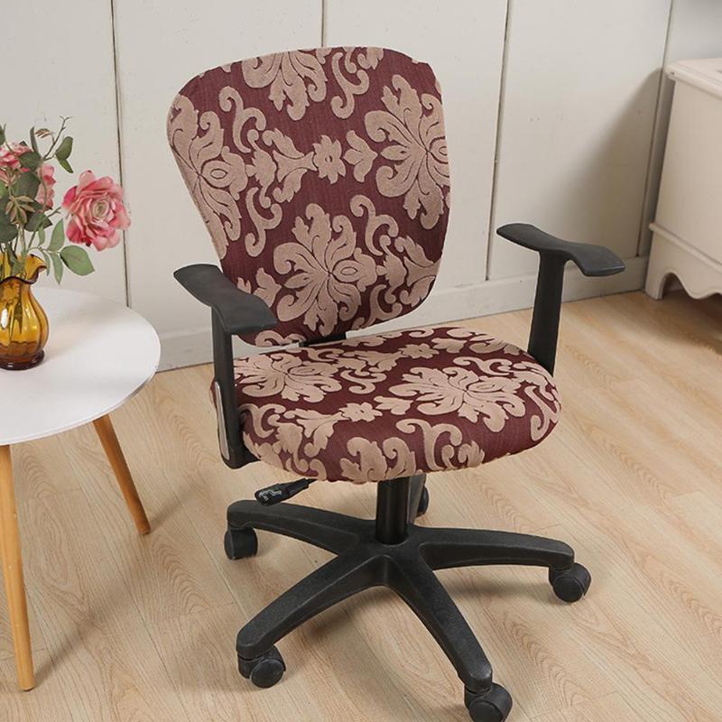 Cubiertas para sillas de oficina cubiertas de funda de funda de rotación universal