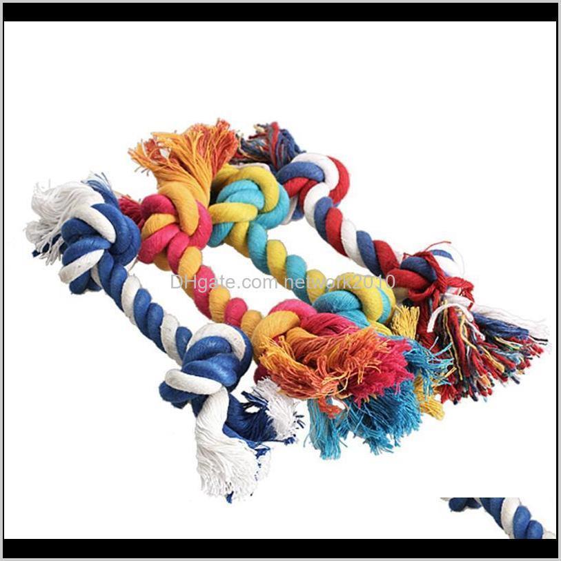 الحيوانات الأليفة القطن يمضغ عقدة الملونة دائم مضفر العظام حبل 18 سنتيمتر مضحك الكلب القط اللعب 6lwhh 2i4qt