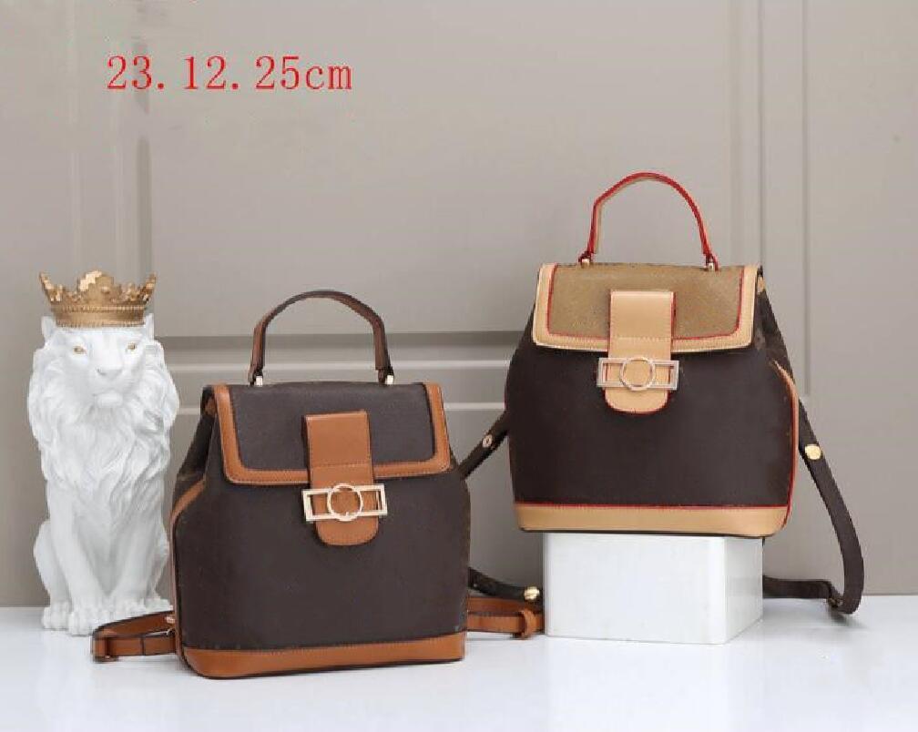Moda sacos de Alta Qualidade Velha Flor Backpack Mulheres Schoolbag Lazer PU Couro Ombro