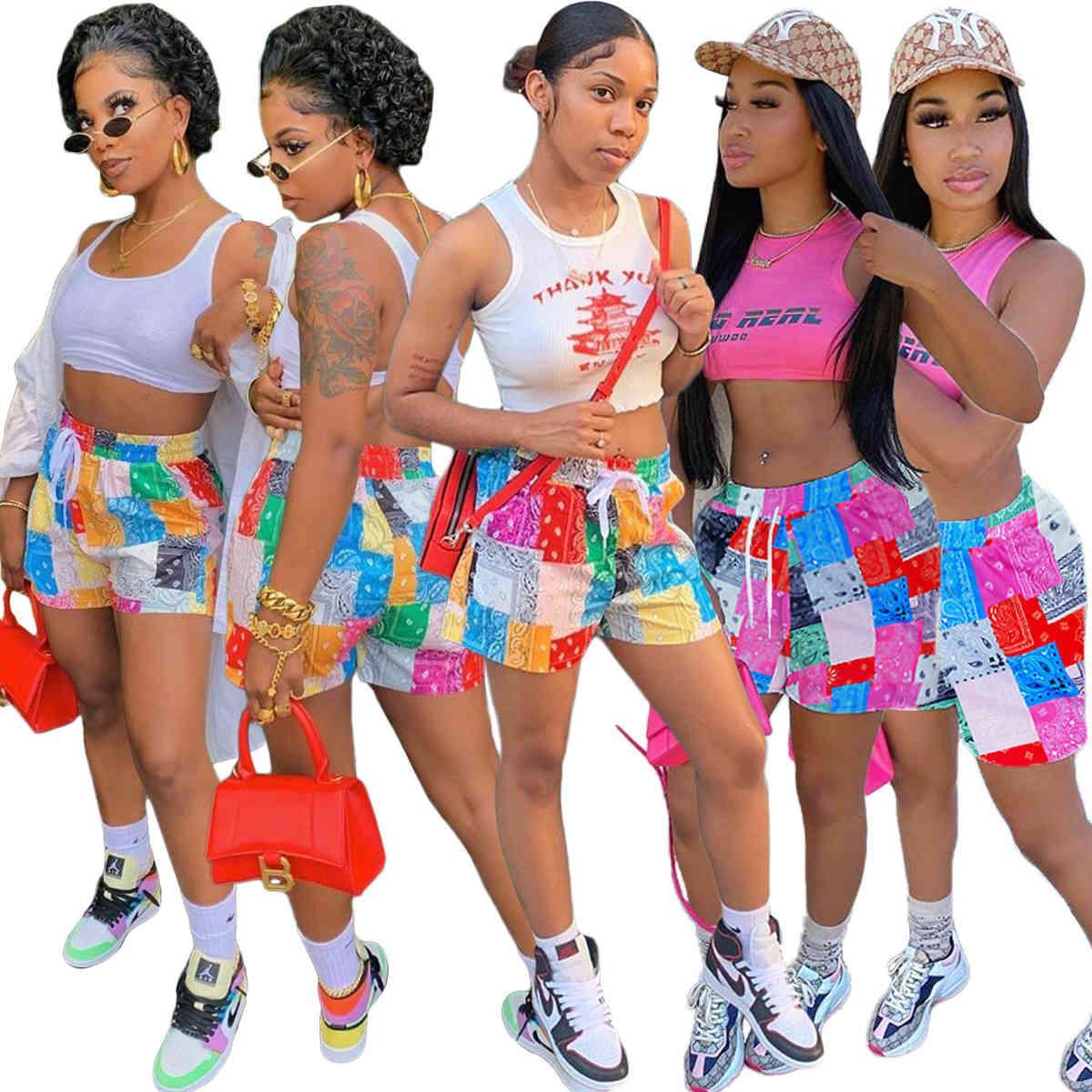 Frauen Sommer gedruckt Casual Hosen Paisley Cashew-Blume Mini-Shorts für lose Strandhosen der neuen Auflistung DHL
