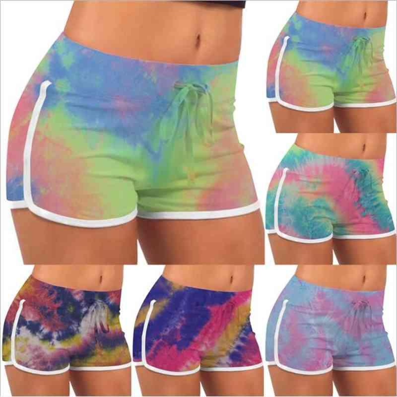 Tie-Dye Shorts Estate Stretch Lift Hot Pantaloni Caldi Ragazze Slim Pantaloni Casual Pantaloni Casual High Waist Leggings Fitness Yoga Shorts Stampato Allenamento B7570