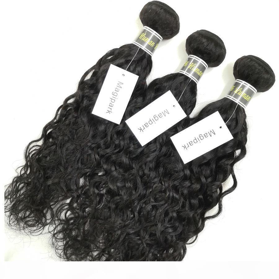 Magipark Hair Brazilian Water Wave 3 Bundles 8A Unprocessed Peruvian Malaysian Indain Virgin Hair Bundles Water Wave Cheap Human Hair