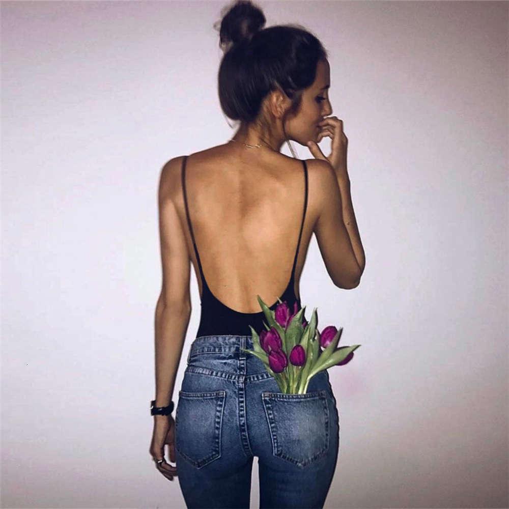 Rompers & Women's summer Jumpsuits street shooting versatile suspender backls cotton sexy Jumpsuit