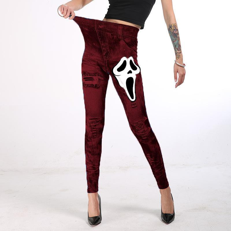 Women's Leggings 2021 Halloween Hip-lifting Slimming Pencil Autumn And Winter Fashion Comfortable Printing Trousers