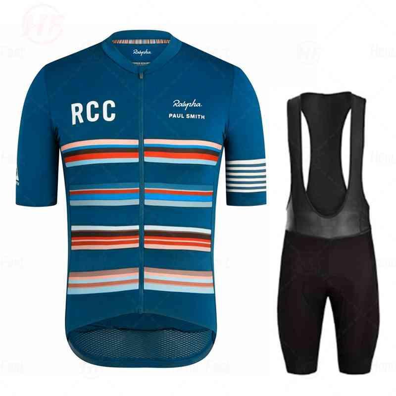 Road Bike Riding Orm Летняя тренировка Носить Новый Велоспорт Одежда Raphaing RCC Джерси Набор Мужчин Костюм с коротким рукавом Пол Смит Команда X0503