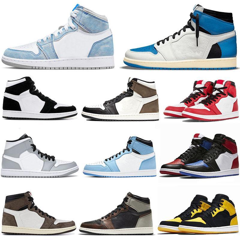 Air jordon 1 basketball shoes Travis Scott x top Obsidian UNC Fearless First Class Flight PHANTOM TURBO red 1 Backboard sport sneaker trainer men women