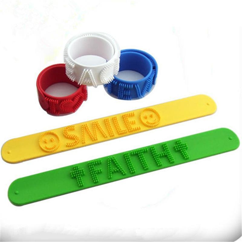 Flexible Slap Wrist Cell Phone Straps Fidget Massager Silicon Bracelet Wearable WristBand Anxiety Stress Reliever Party Favor GWA8632