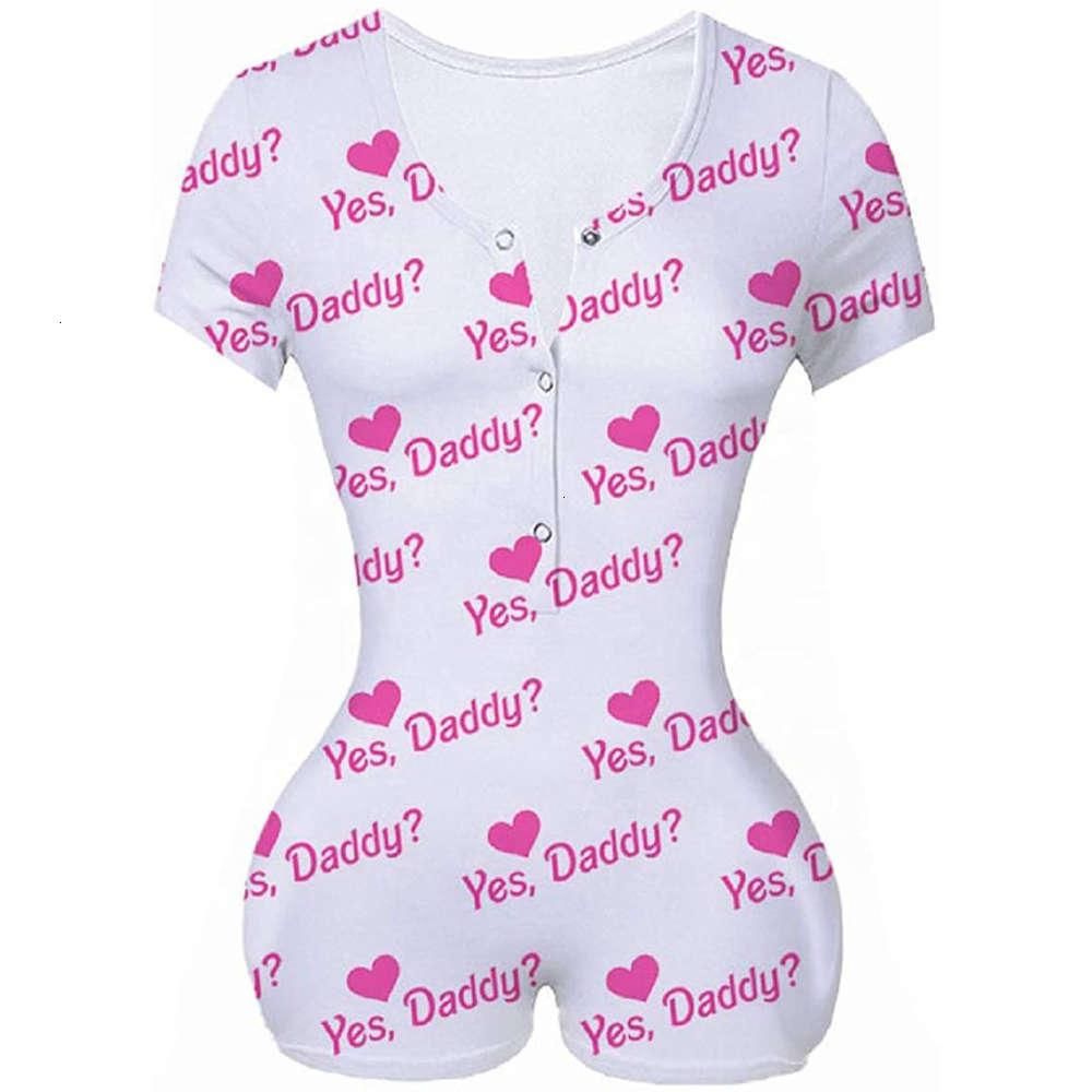 Frauen Jumpsuits ja Papa Brief Letter gedruckt Pinky One piece Strampler Sommer Kurzarm Slim Shorts Jumpsuits Baddie Bodysuit in 4 Farben