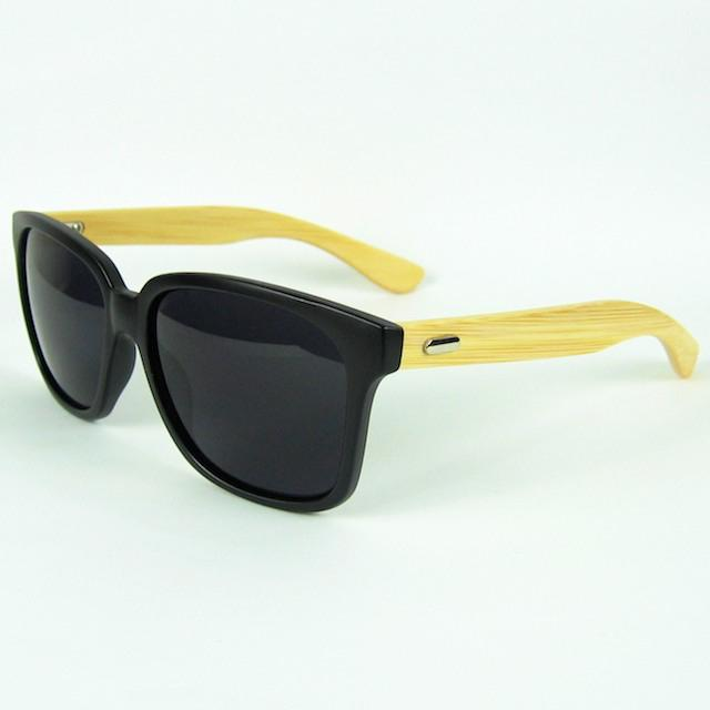 Moda Madeira Sunglasses Cool Lentes Pretas Bambu Sun Óculos Mulheres Desenhador Eyewear 4 Cores 12 pçs / lote