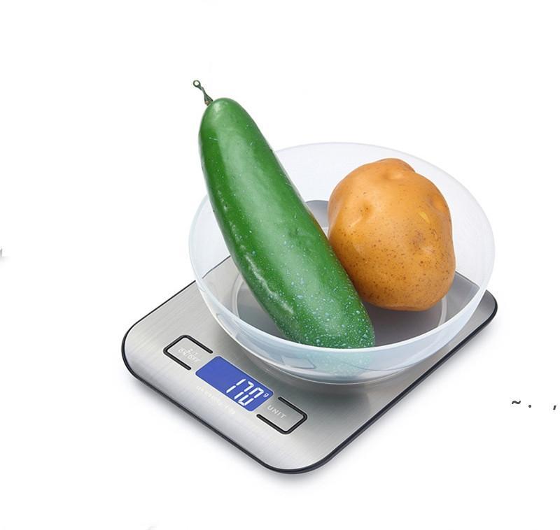 Alimentos Digital Cocina Escala Peso Grams y Oz para hornear y cocinar, Acero inoxidable Pantalla LCD Mida Herramientas BWF6261