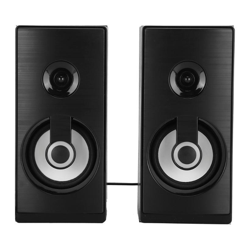 & MP4 Players 2.0 Multi-Media Handmade Wooden Box Desktop Mini Stereo Sound Effect Speaker With Breathing Lights USB Laptop Speakers