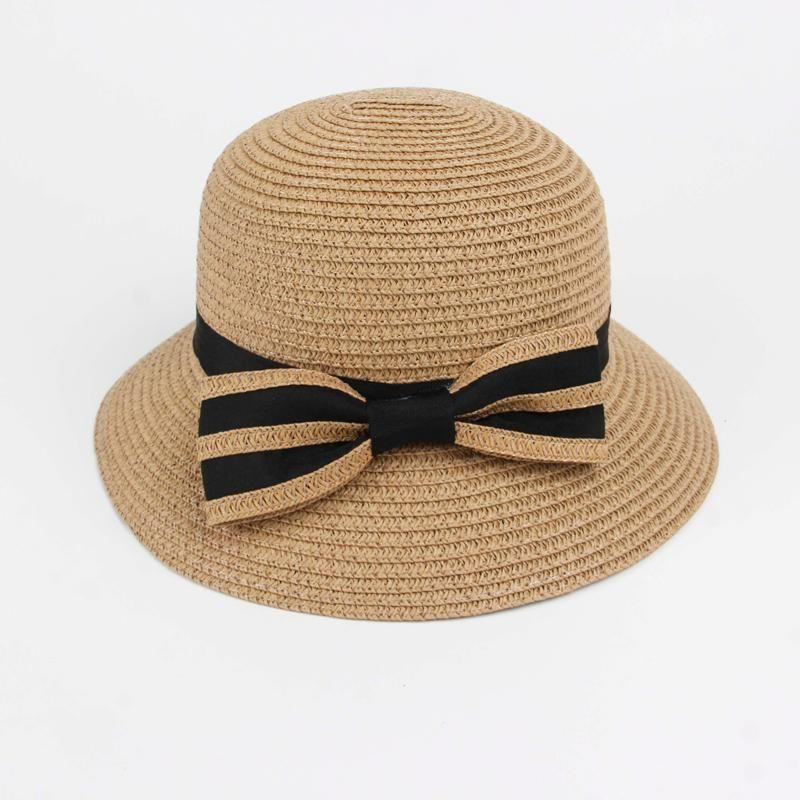 어린이 여름 모자 여성 짚 귀여운 고양이 모델링 태양 와이드 브림 파나마 모자 해변 모자 아이 라피아 소녀 모자