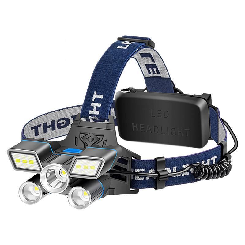 يضيء أحمر / أزرق / أبيض ضوء LED كشافات L2 + 2 * T6 المصباح ضوء USB قابلة للشحن ضوء مع الذيل تحذير ماء 15 1661 Z2
