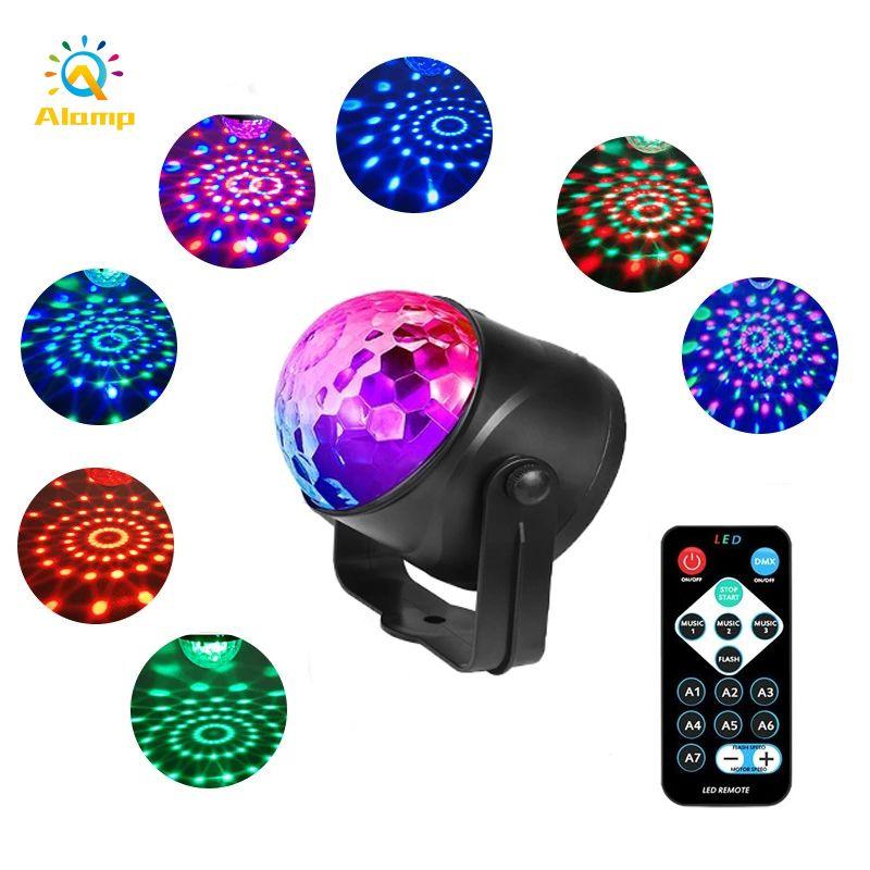 Lampada da discoteca laser RGB 6W Stage Lampad Lampada audio Attivato rotante DJ Ball Projector Night Light per Party KTV Birthdat Decor