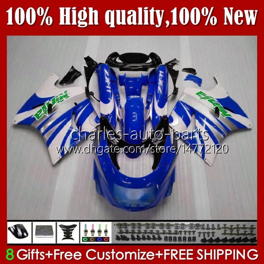 Zestaw do ciała do Kawasaki Ninja ZX11R ZZR 1100 Blue White New ZX-11 R ZZR1100 ZX11 R ZX 11 R 119.66 ZX-11R 1990 1991 1992 1993 1994 1995 ZZR-1100 96 97 98 99 00 01 OEM Łwycenia