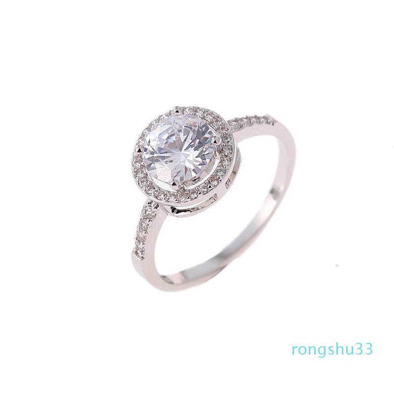 Acessório de moda dois pedaço redondo conjunto de brincos de diamante 10RN6