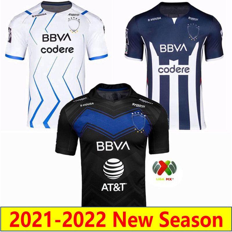 2021 2022 CF مونتيري لكرة القدم الفانيلة الصفحة الرئيسية Away Funes الثالث Mori 21 22 Rayados Anniversary Kit Janssen Layun Sanchez كرة القدم قميص Mailleots de Futol