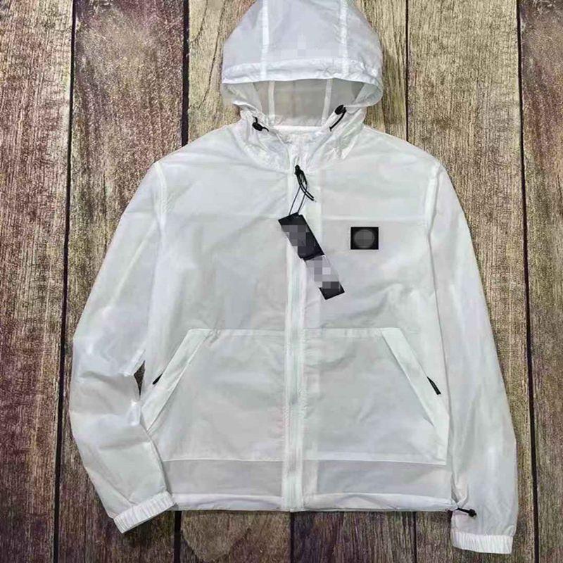여름 단단한 컬러 실력 썬 스크린 남자 재킷 사파시 니코 비아 Divaricata 후드 커플 코트 레저 시간 간단한 스포츠 탑