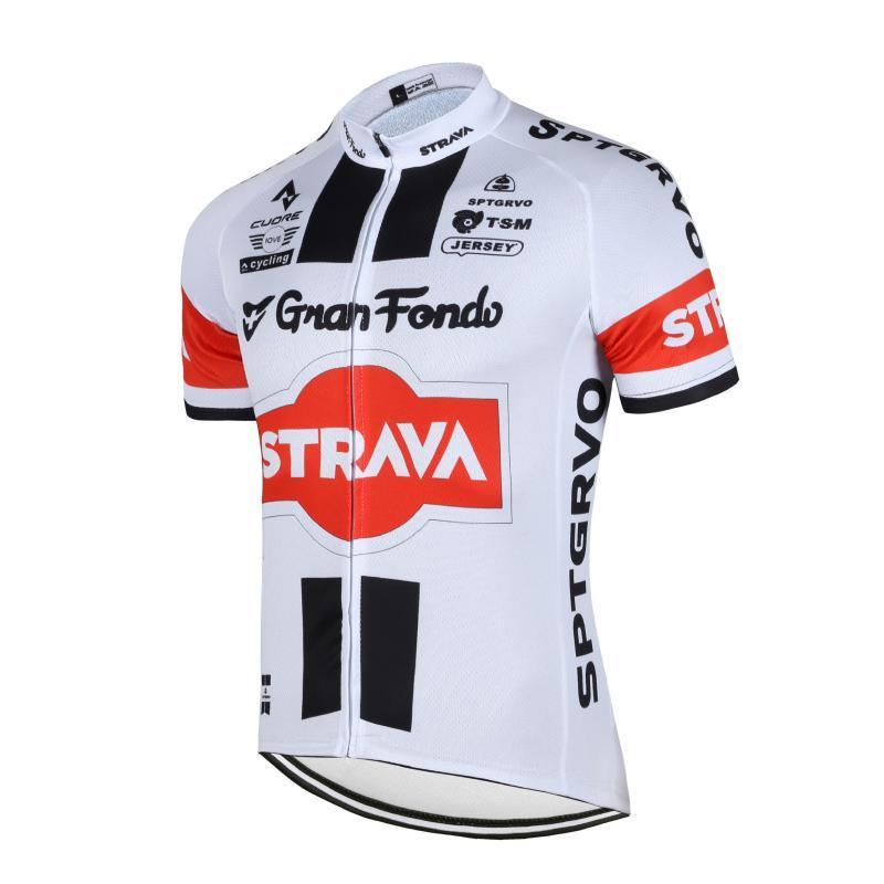레이싱 세트 Strava Cycling 저지 남성과 여성 장비 복장 유니폼 세트 Traje Ciclismo Hombre