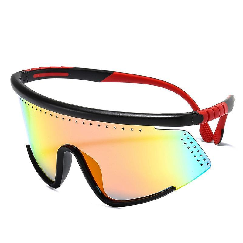Occhiali da sole moda cool maschera oversize maschera shiled stile sportivo antivento di marca design occhiali da sole