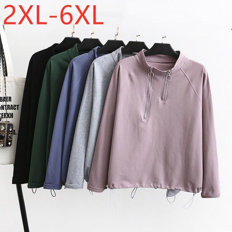 Women's Hoodies & Sweatshirts Ladies Autumn Winter Plus Size Sports Pullover Tops For Women Large Long Sleeve Loose Zipper Pink Sweatshirt 3