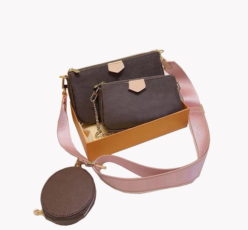 حقائب الكتف مصمم الأزياء ثلاثة قطعة رسول حقيبة ماركة إلكتروني زهرة سلسلة جودة عالية بو السيدات محفظة عملة محفظة الترفيه حقيبة يد الفاصل الترفيه