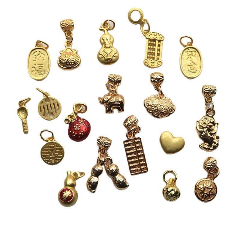 18 stücke chinesische stil placer gold cloisonne etamel anhänger diy charms schmuck material herstellung halskette armband anklat zubehör
