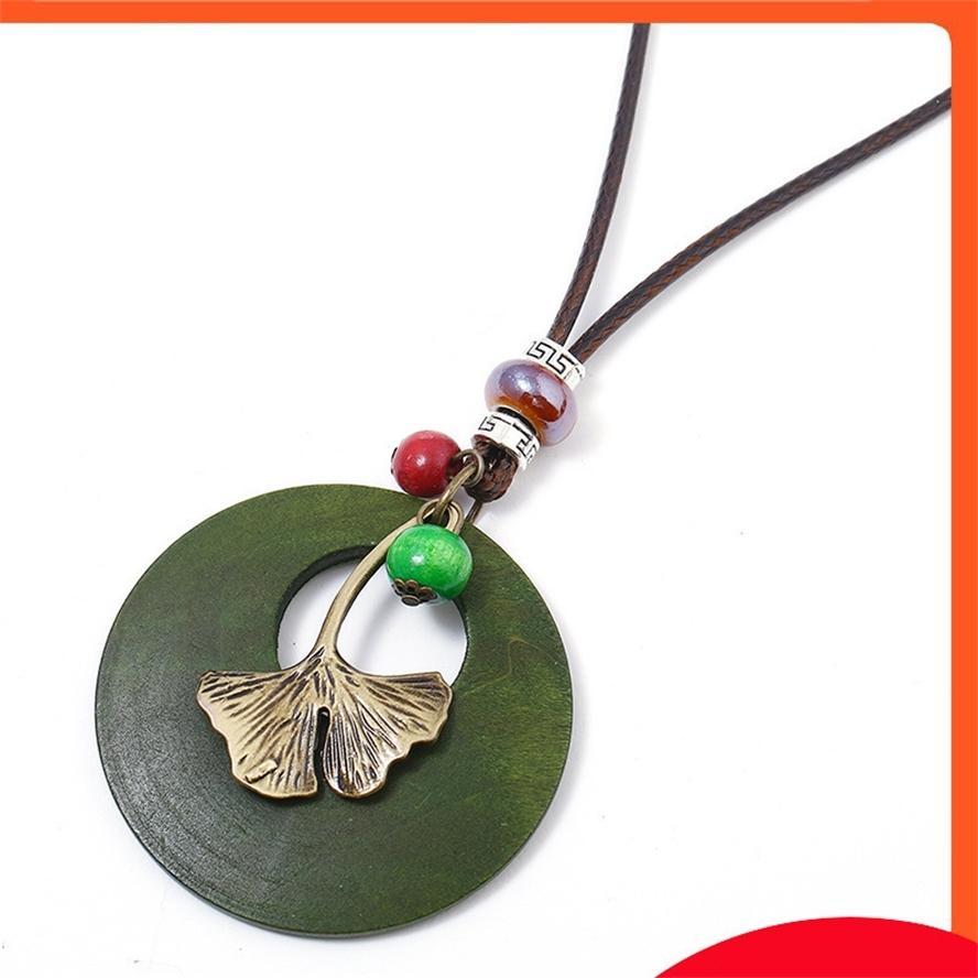 Forma delicata della foglia delicata della lega multistrato delle donne, collane antiche del rame, alla moda e semplice