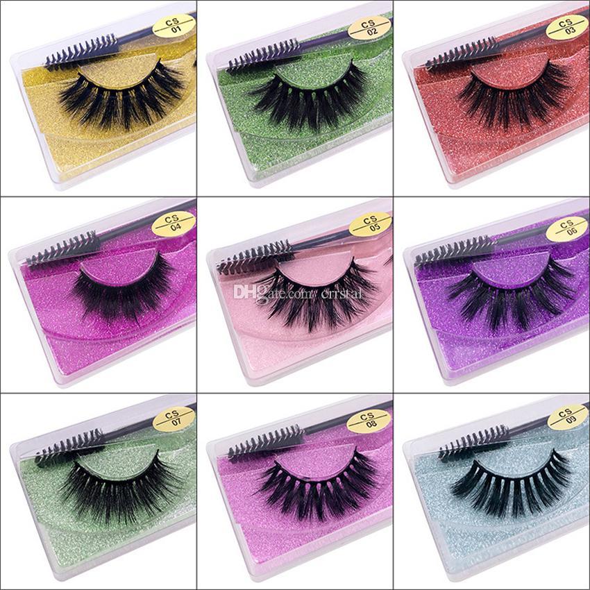 10 Pairs 3D Natural False Eyelashes Soft Light Fake Eyelash Extension Faux Mink Lashes With Eye Lash Mascara Brush Makeup Tools Reusable Vivid Crisscross Full Strips