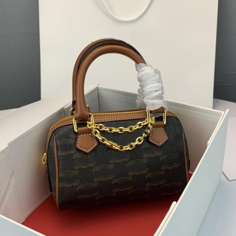 Women Tote Mini Handbags Boston Pillow Bag Crossbody Bags Embroidery Letter Fashion Zipper Handbag Removable Adjustable Shoulder Strap
