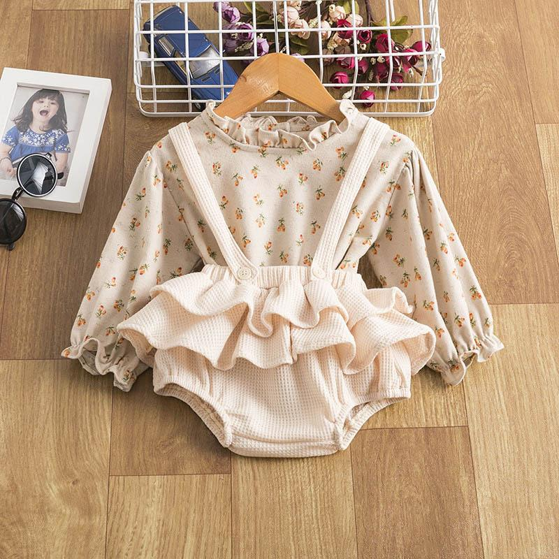 Clothing Sets Girls Outfits Baby Clothes Kids Suit Child Spring Autumn Cotton Long Sleeve Shirts Shorts 2Pcs Infant Wear B5479