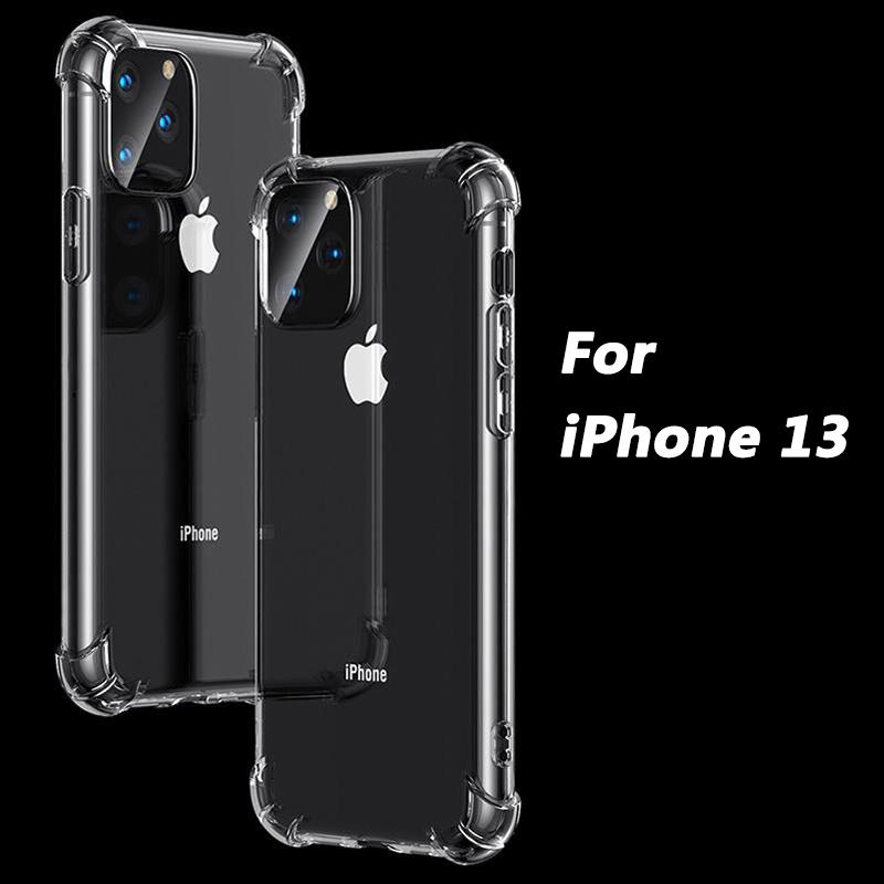 1.5mm Transparent Phone Cases For iPhone 13 12 11 mini Pro MAX XS XR 8 7 Plus Samsung A72 A52 S21 Shockproof Airbag Clear soft TPU Protective Cover