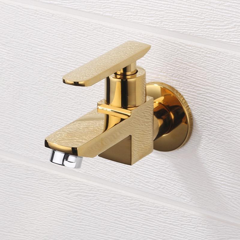 الحمام ممسحة بركة صنبور الحائط الخيالة واحدة الباردة الصغيرة السوداء النحاس سريع فتح الكروم شرفة حوض الصنبور بالوعة الحنفيات
