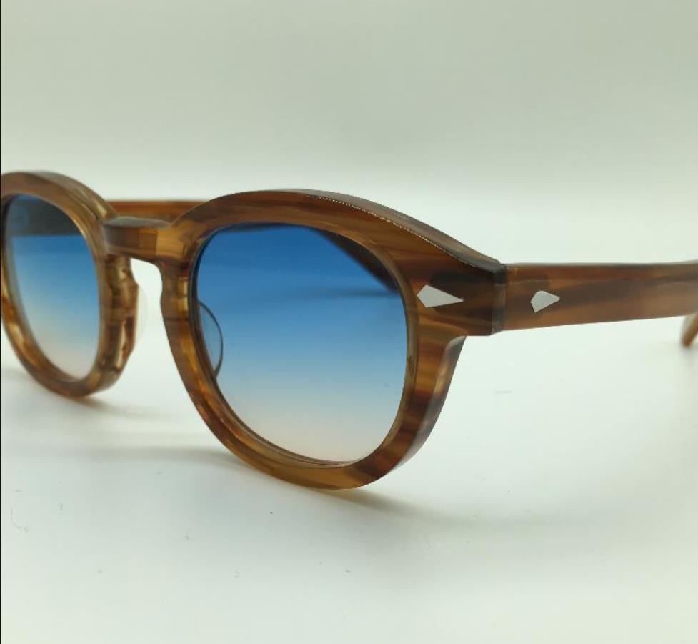 Wholesale Design S M L Frame 100Color Lens Sunglasses Lemtosh Johnny Depp Glasses Top Quality Eyeglasses Arrow Rivet 1915 With Case