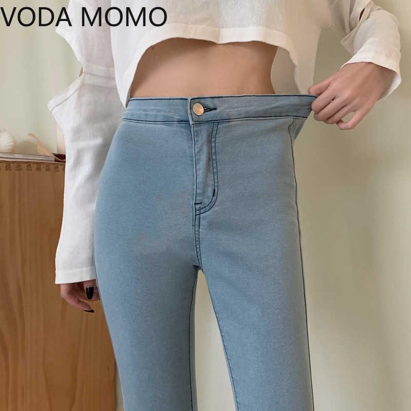 Streetwear Hohe Taille Frauen Mode Jeans Frau Mädchen Frauen Bleistift Hosen Hosen Weibliche Jean Denim Skinny Mom Jeans Plus Größe Y0602