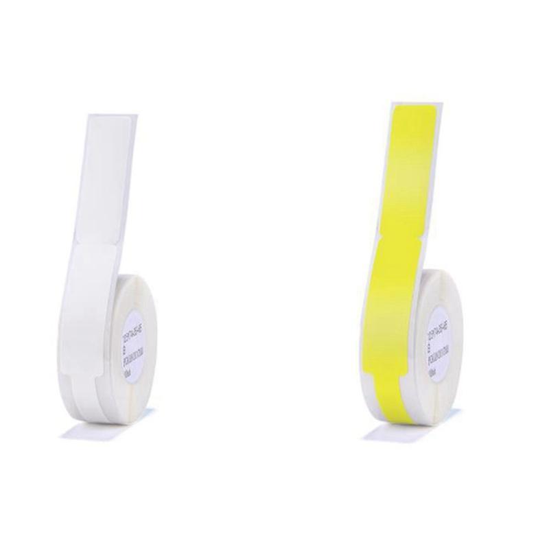 선물 포장 Niimbot 2 롤 D11 라벨 기계 스티커 케이블 플래그 피그 테일 네트워크 용지 열, 화이트 옐로우